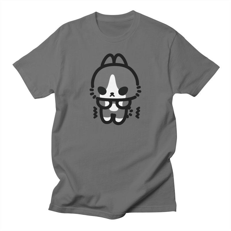 scaredy scaredy grey white bunny Men's T-Shirt by Ziqi - Monster Little