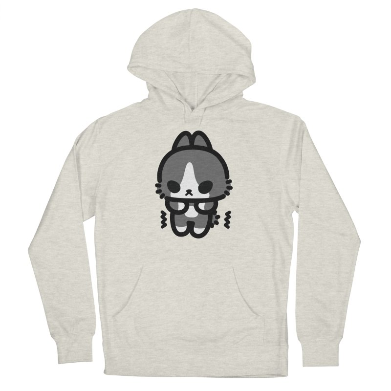 scaredy scaredy grey white bunny Women's French Terry Pullover Hoody by Ziqi - Monster Little