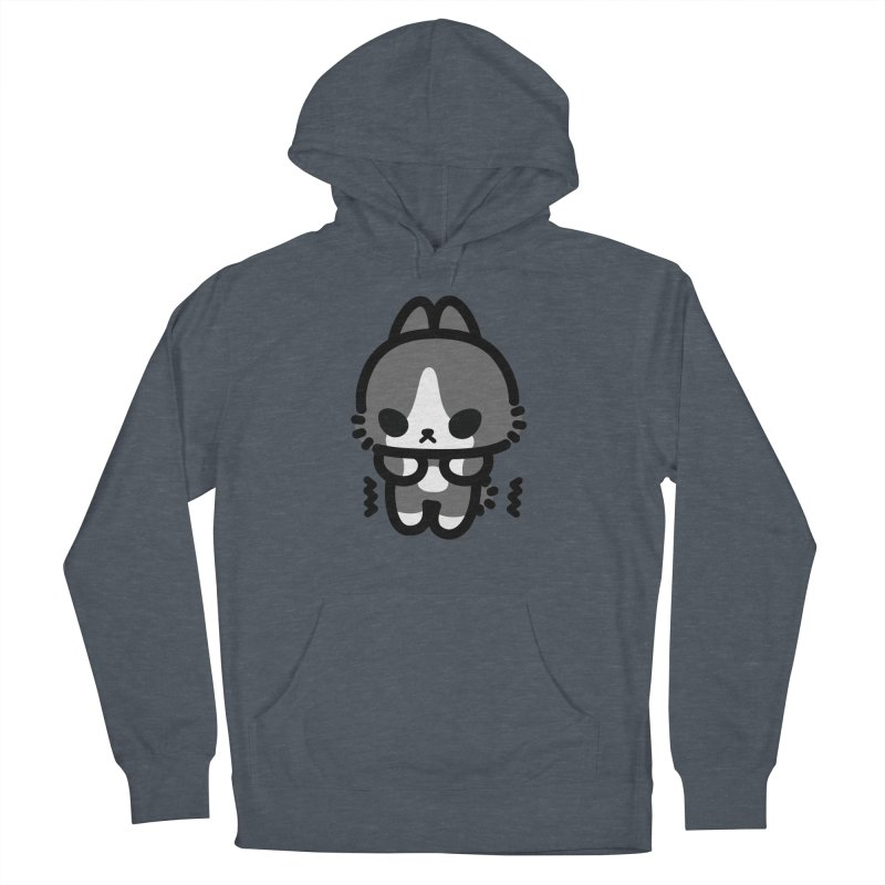 scaredy scaredy grey white bunny Men's Pullover Hoody by Ziqi - Monster Little