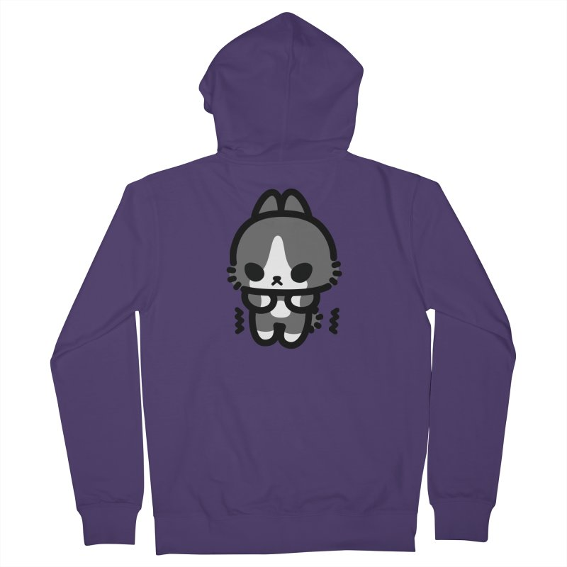 scaredy scaredy grey white bunny Women's Zip-Up Hoody by Ziqi - Monster Little