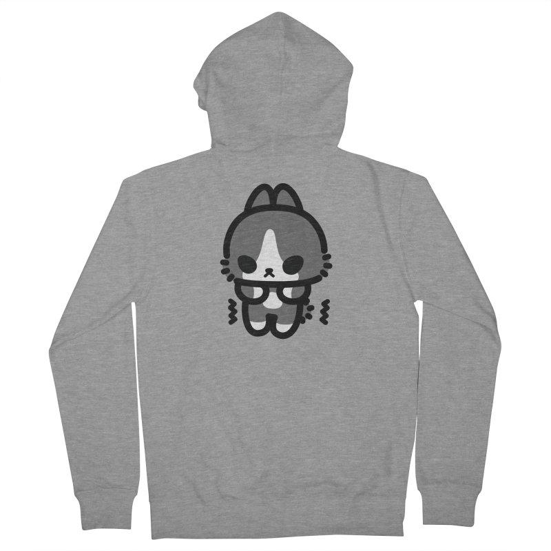 scaredy scaredy grey white bunny Men's Zip-Up Hoody by Ziqi - Monster Little