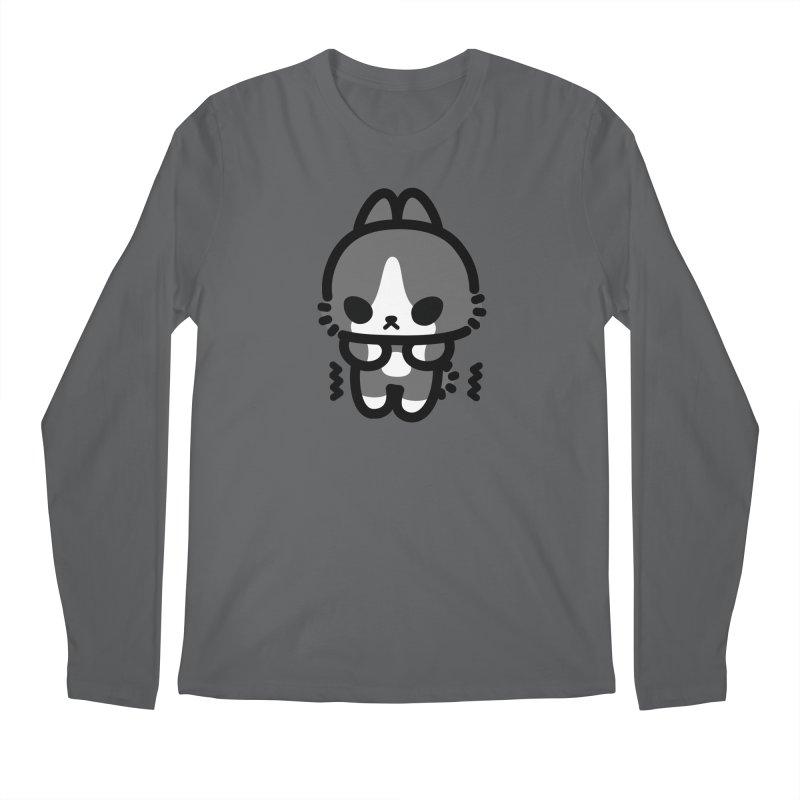 scaredy scaredy grey white bunny Men's Longsleeve T-Shirt by Ziqi - Monster Little