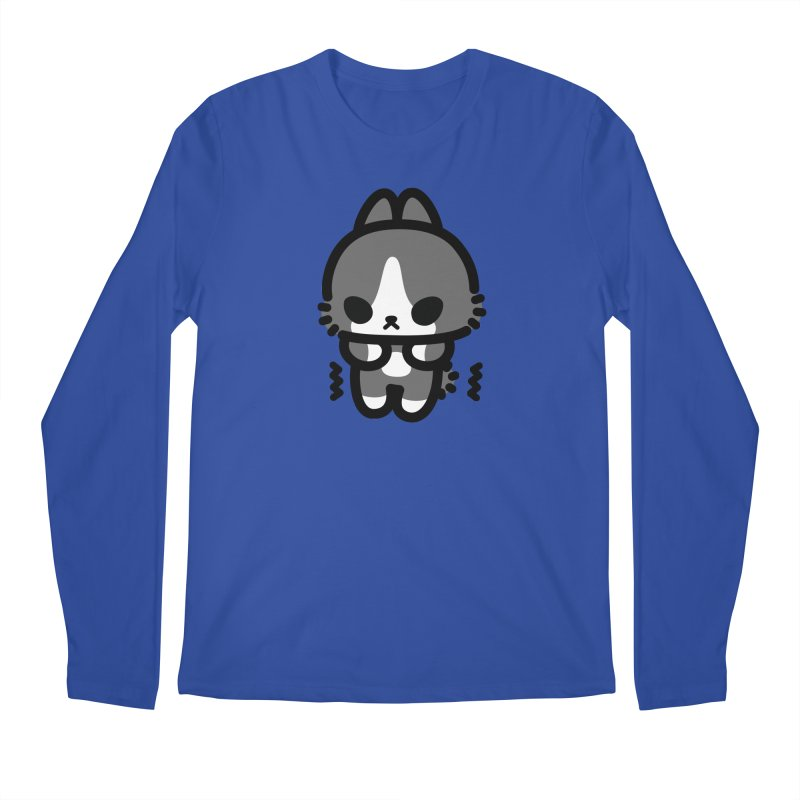 scaredy scaredy grey white bunny Men's Regular Longsleeve T-Shirt by Ziqi - Monster Little