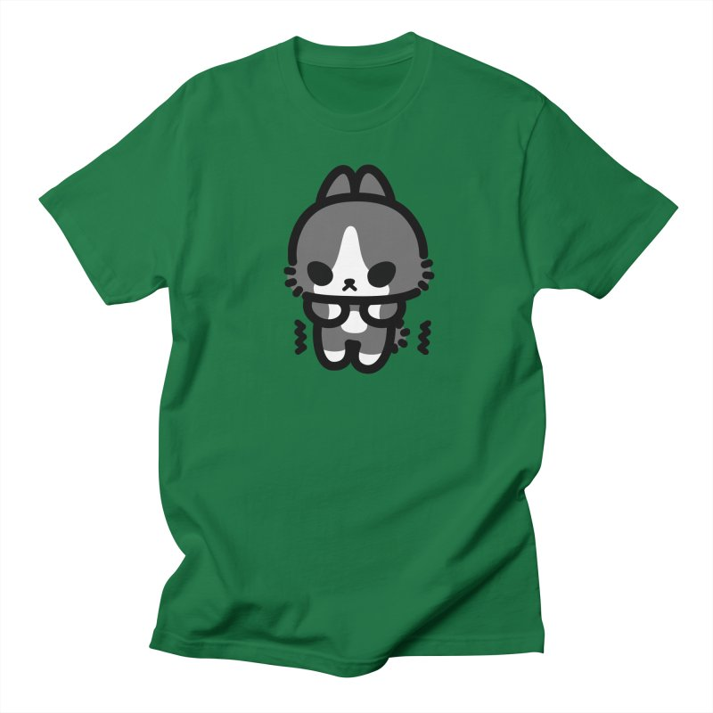 scaredy scaredy grey white bunny Men's T-shirt by Ziqi - Monster Little