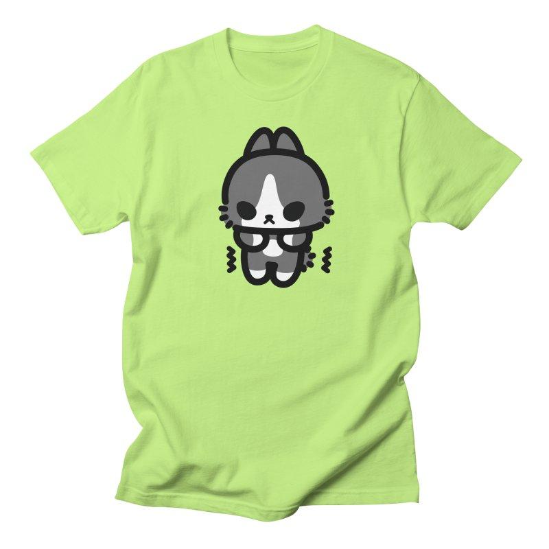 scaredy scaredy grey white bunny Men's Regular T-Shirt by Ziqi - Monster Little