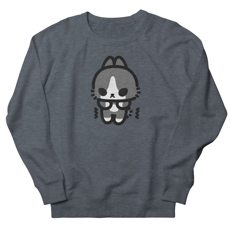 scaredy scaredy grey white bunny Women's Sweatshirt by Ziqi - Monster Little