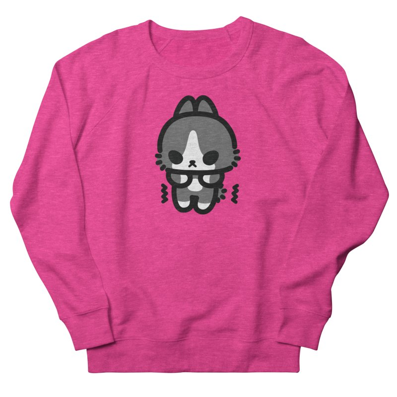 scaredy scaredy grey white bunny Women's French Terry Sweatshirt by Ziqi - Monster Little