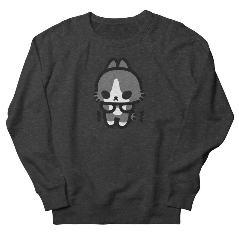 scaredy scaredy grey white bunny Men's French Terry Sweatshirt by Ziqi - Monster Little