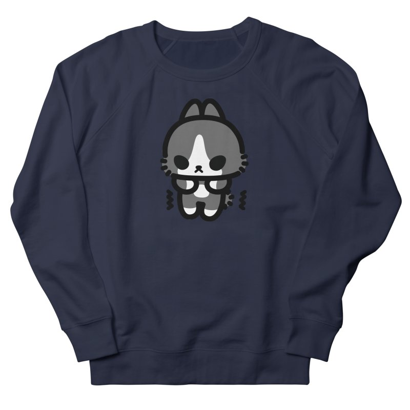 scaredy scaredy grey white bunny Men's French Terry Sweatshirt by Ziqi - Monster Little
