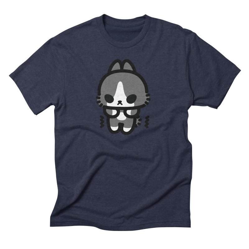 scaredy scaredy grey white bunny Men's Triblend T-Shirt by Ziqi - Monster Little