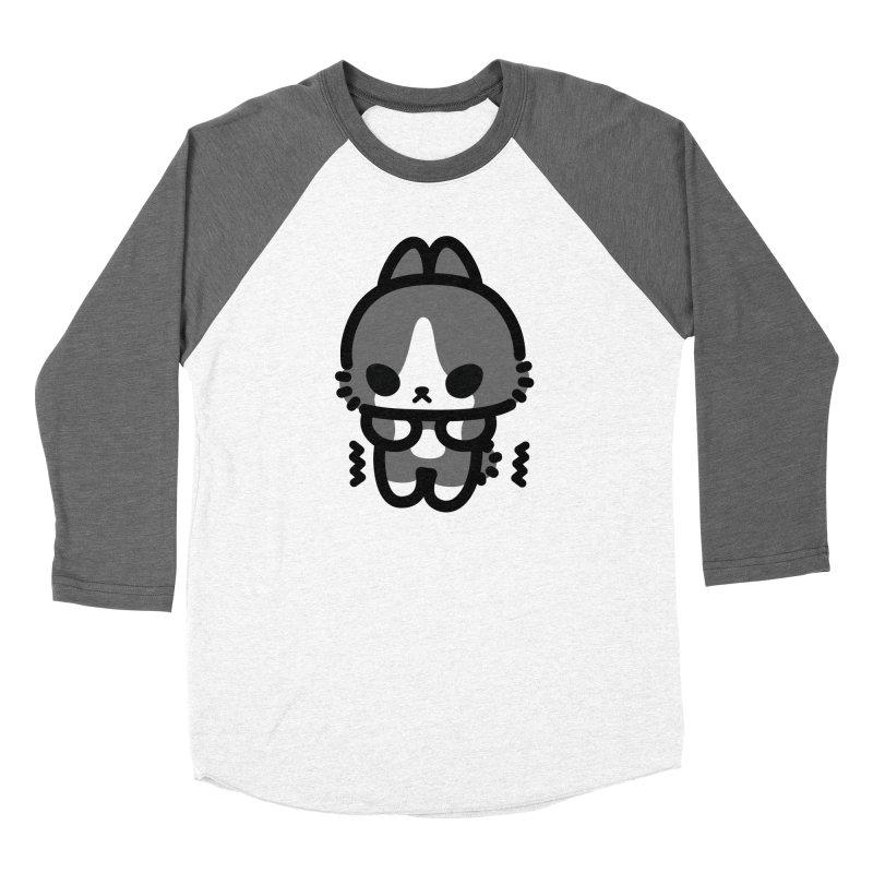 scaredy scaredy grey white bunny Women's Baseball Triblend T-Shirt by Ziqi - Monster Little