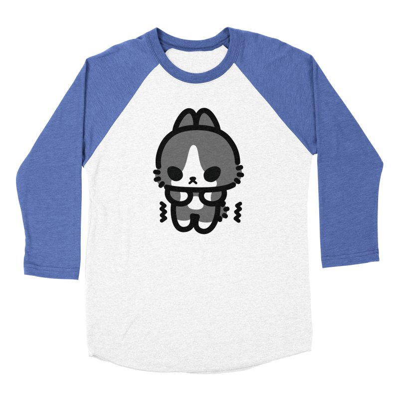 scaredy scaredy grey white bunny Men's Baseball Triblend T-Shirt by Ziqi - Monster Little