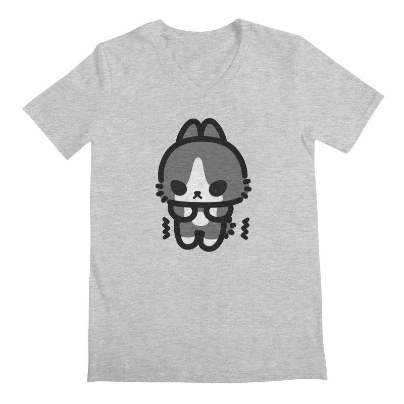 scaredy scaredy grey white bunny Men's V-Neck by Ziqi - Monster Little