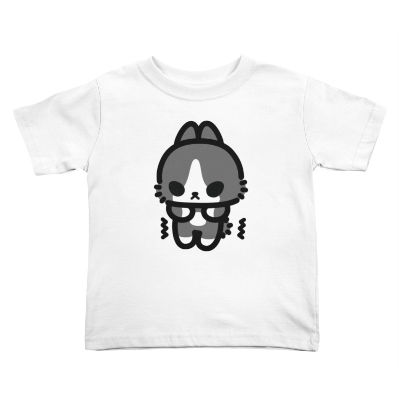scaredy scaredy grey white bunny Kids Toddler T-Shirt by Ziqi - Monster Little