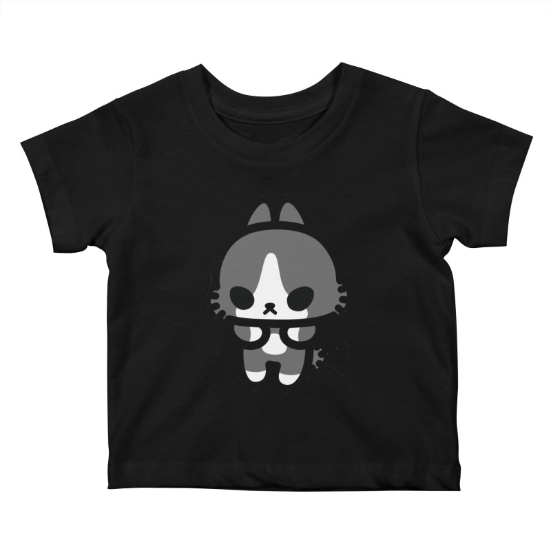 scaredy scaredy grey white bunny Kids Baby T-Shirt by Ziqi - Monster Little