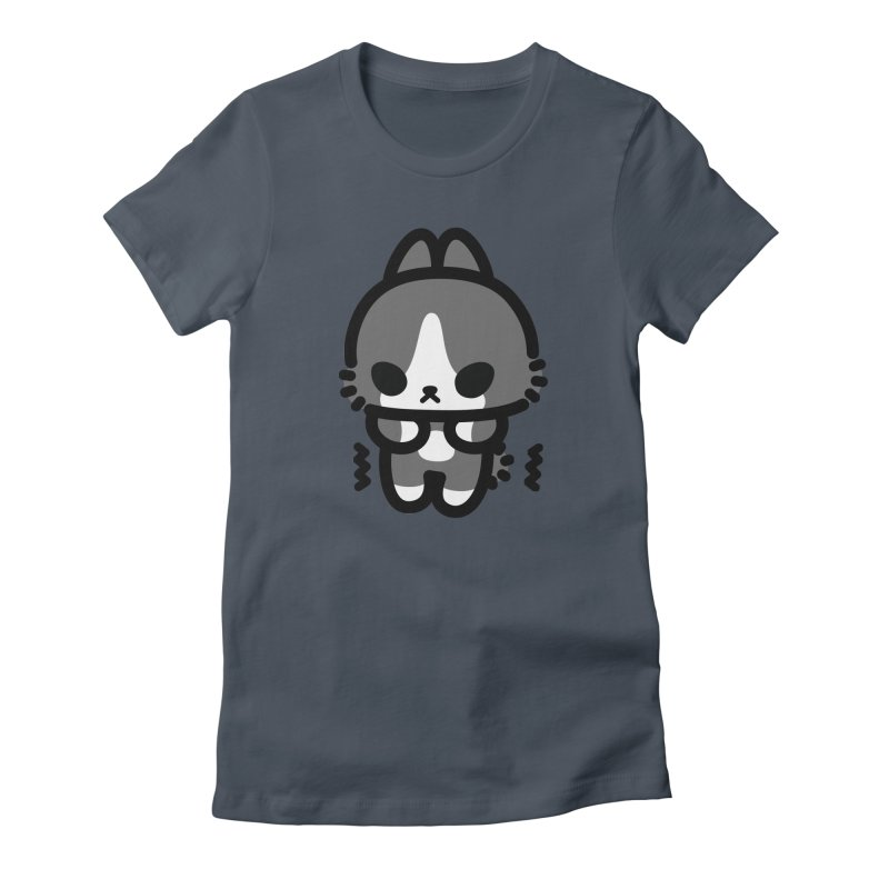 scaredy scaredy grey white bunny Women's T-Shirt by Ziqi - Monster Little