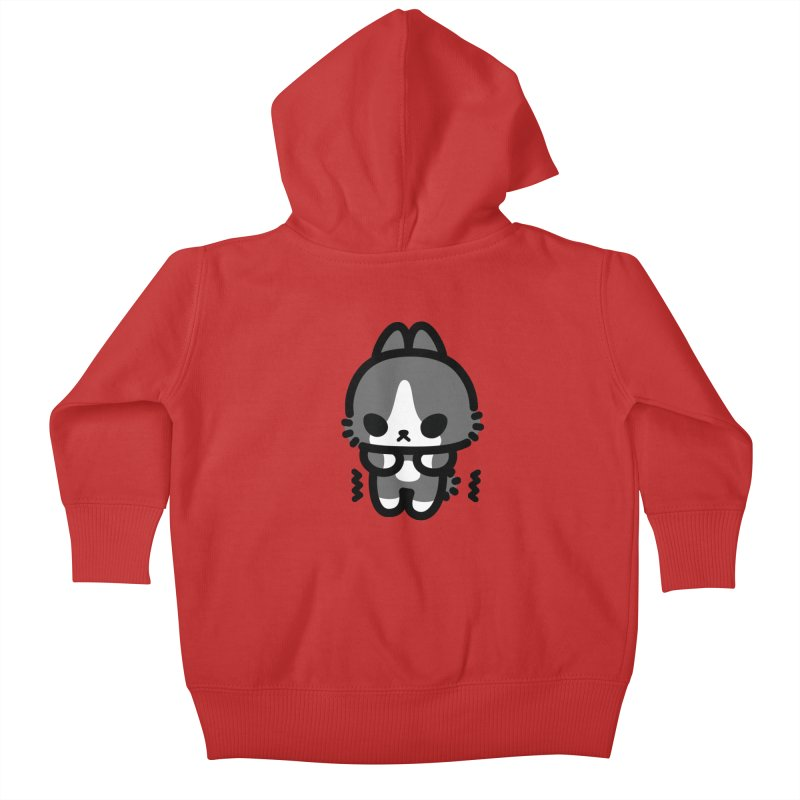 scaredy scaredy grey white bunny Kids Baby Zip-Up Hoody by Ziqi - Monster Little