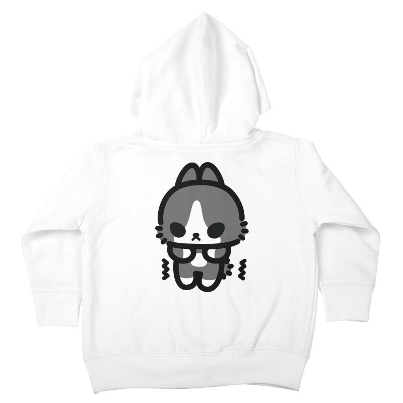 scaredy scaredy grey white bunny Kids Toddler Zip-Up Hoody by Ziqi - Monster Little