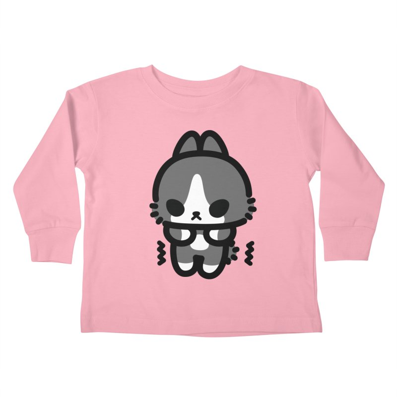 scaredy scaredy grey white bunny Kids Toddler Longsleeve T-Shirt by Ziqi - Monster Little