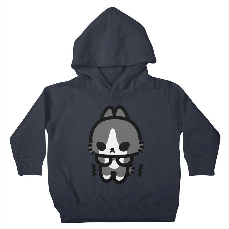 scaredy scaredy grey white bunny Kids Toddler Pullover Hoody by Ziqi - Monster Little