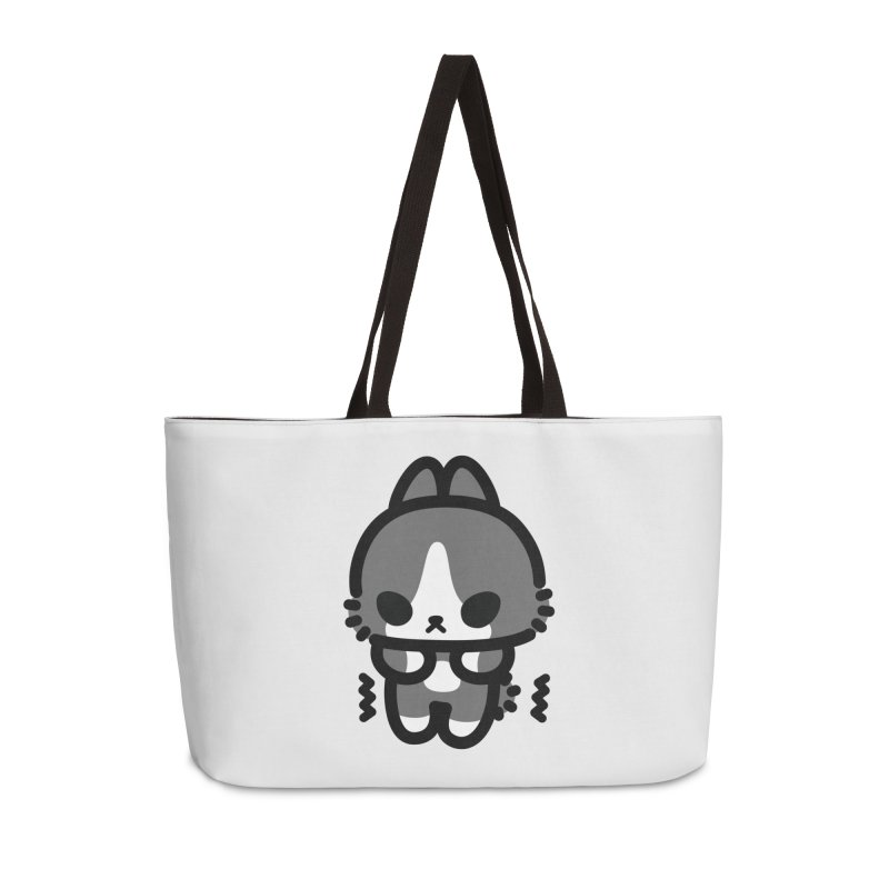 scaredy scaredy grey white bunny Accessories Weekender Bag Bag by Ziqi - Monster Little