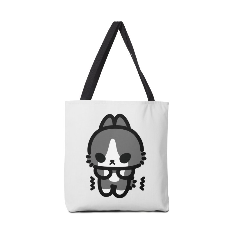 scaredy scaredy grey white bunny Accessories Bag by Ziqi - Monster Little