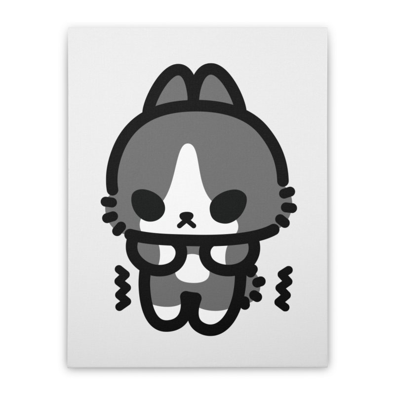 scaredy scaredy grey white bunny   by Ziqi - Monster Little