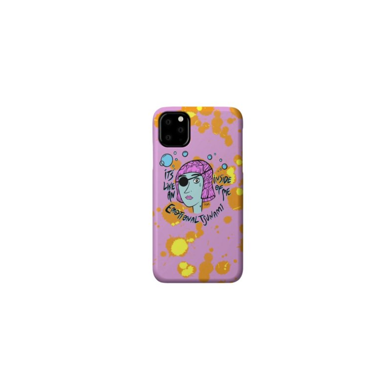 Tsunami Phone Case in Fucsia Accessories Phone Case by Zizoü The Kid's Artist Shop
