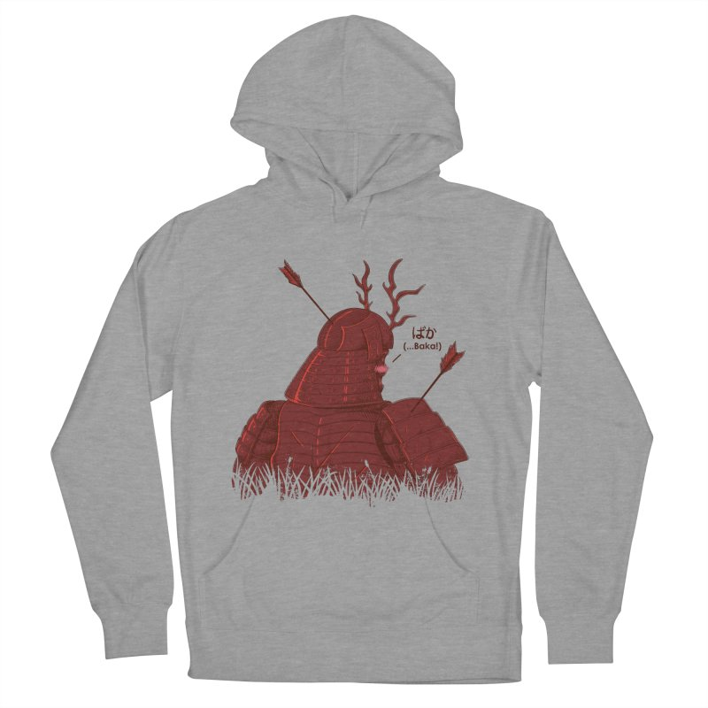 Tsundere Samurai Women's French Terry Pullover Hoody by Wolf Bite Shop