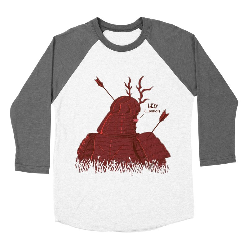 Tsundere Samurai Women's Baseball Triblend T-Shirt by Wolf Bite Shop