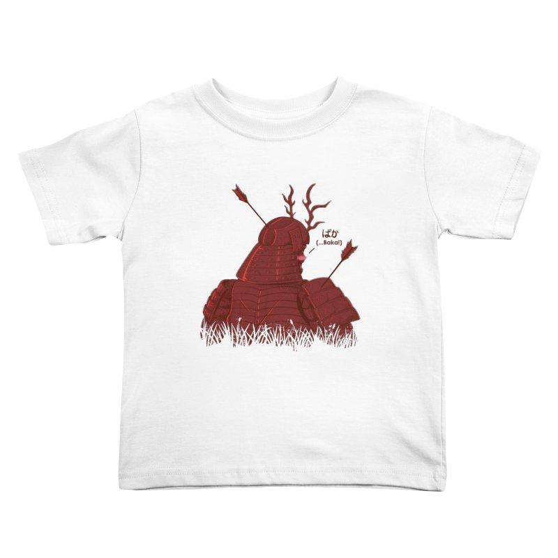 Tsundere Samurai Kids Toddler T-Shirt by Wolf Bite Shop