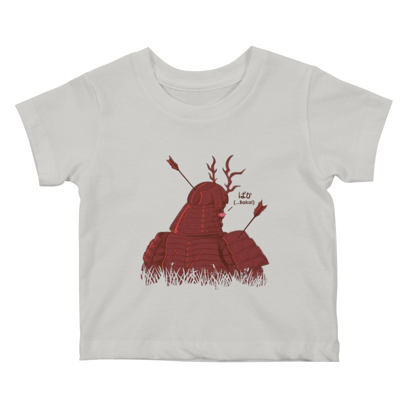 Tsundere Samurai Kids Baby T-Shirt by Wolf Bite Shop