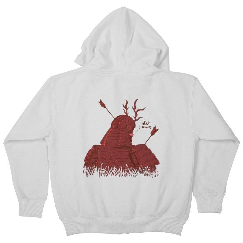 Tsundere Samurai Kids Zip-Up Hoody by Wolf Bite Shop