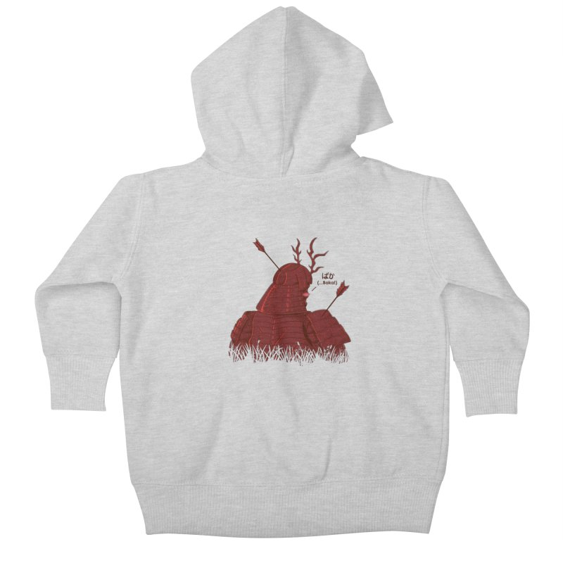 Tsundere Samurai Kids Baby Zip-Up Hoody by Wolf Bite Shop