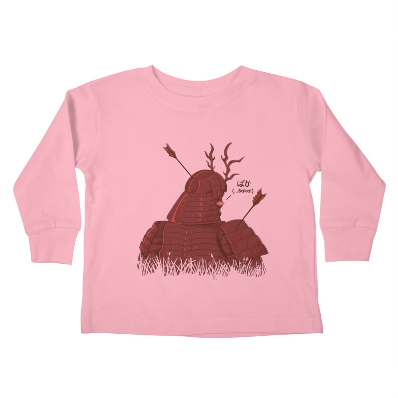 Tsundere Samurai Kids Toddler Longsleeve T-Shirt by Wolf Bite Shop
