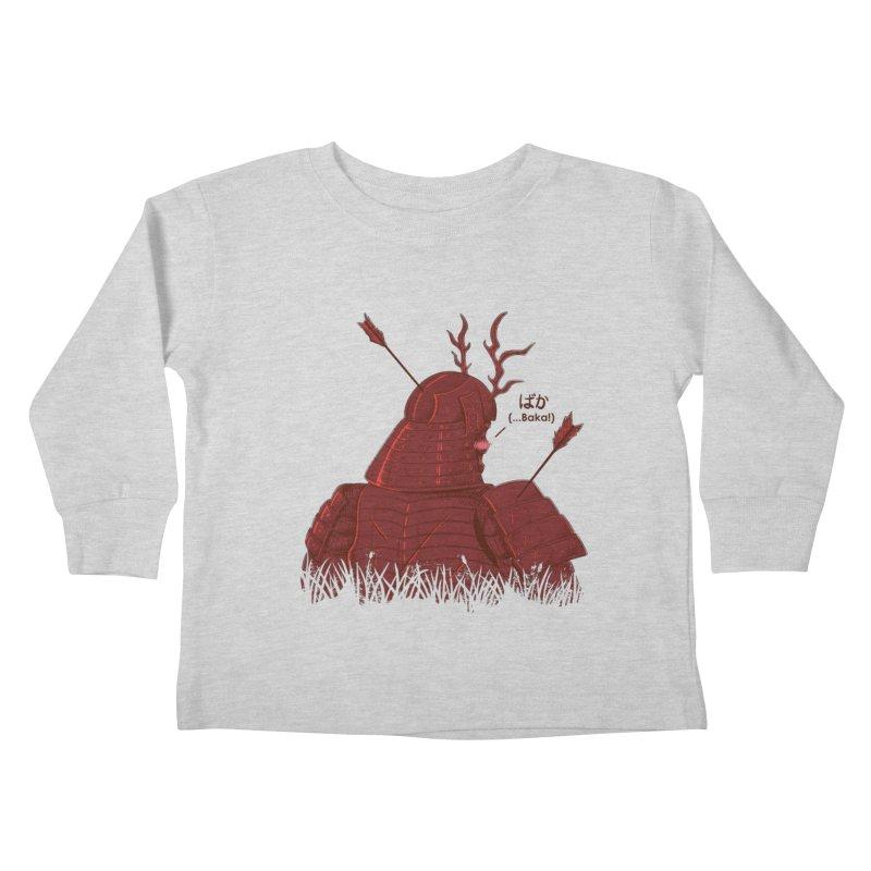 Tsundere Samurai Kids Toddler Longsleeve T-Shirt by Wolf Bite Shop