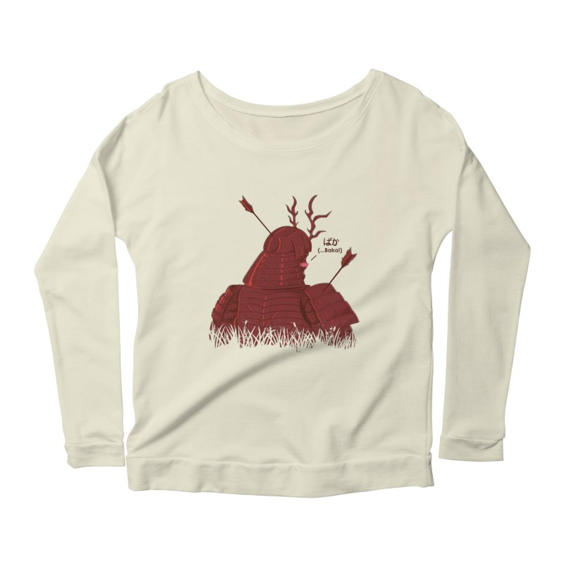 Tsundere Samurai Women's Scoop Neck Longsleeve T-Shirt by Wolf Bite Shop