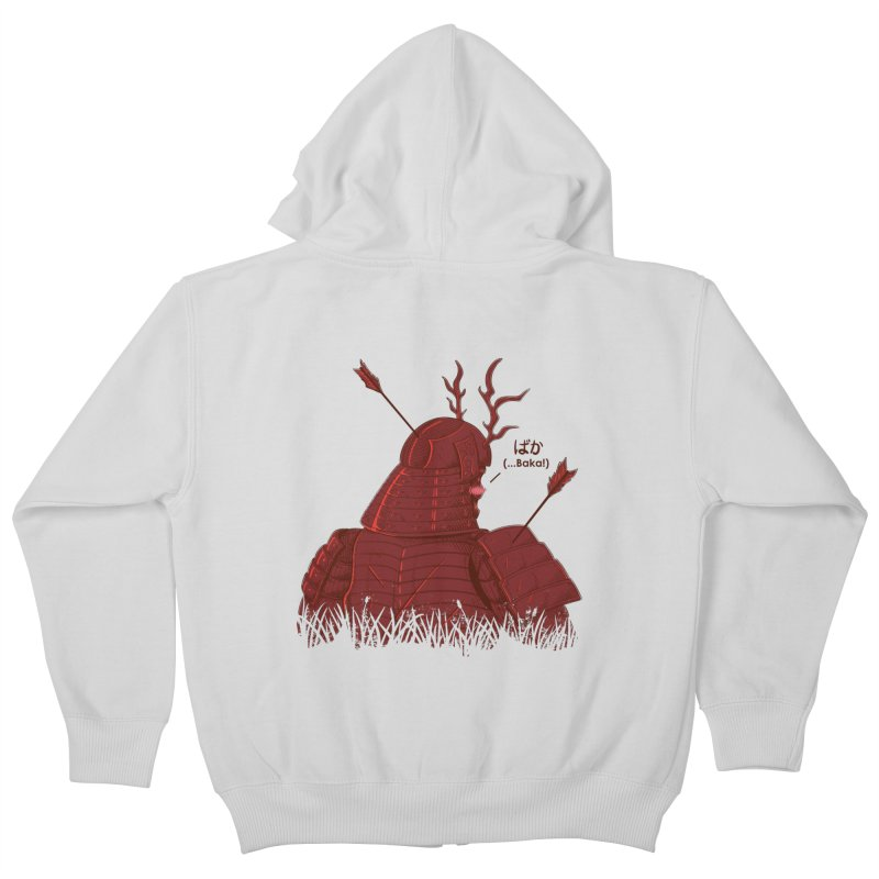 Tsundere Samurai Kids Zip-Up Hoody by Wolf Bite Shop