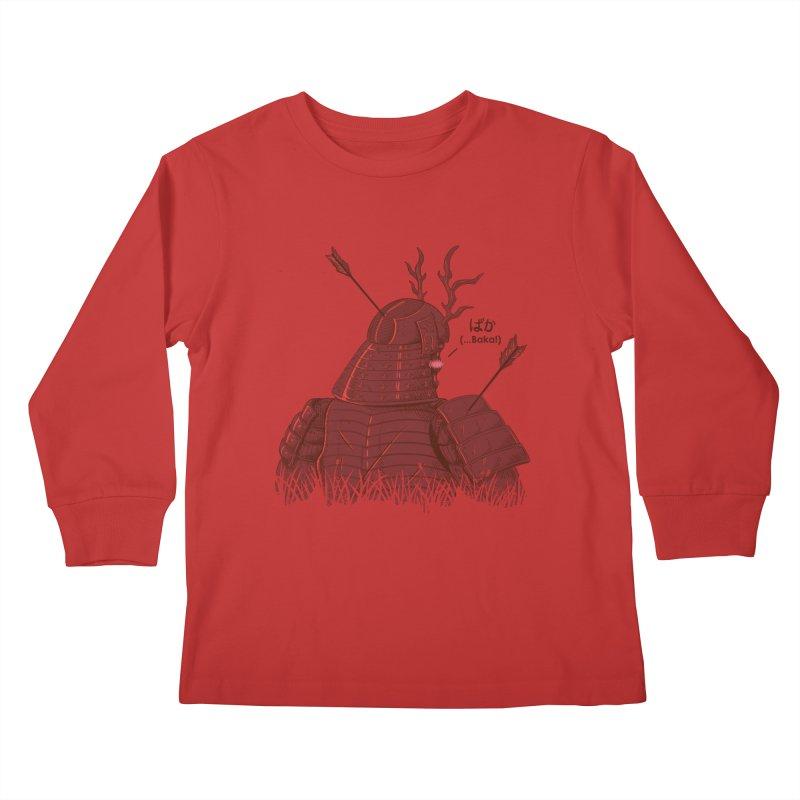 Tsundere Samurai Kids Longsleeve T-Shirt by Wolf Bite Shop