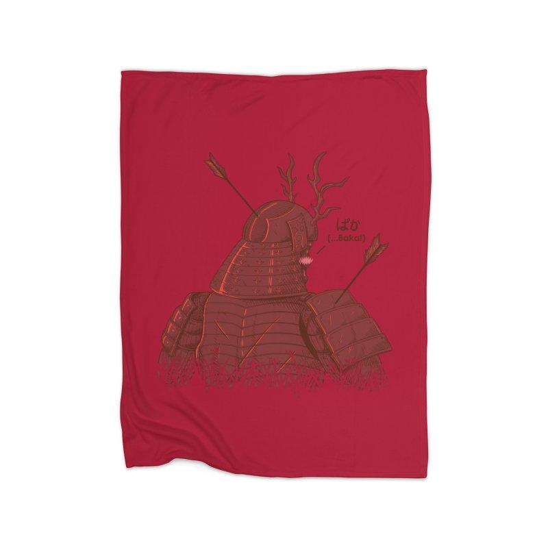 Tsundere Samurai Home Blanket by Wolf Bite Shop