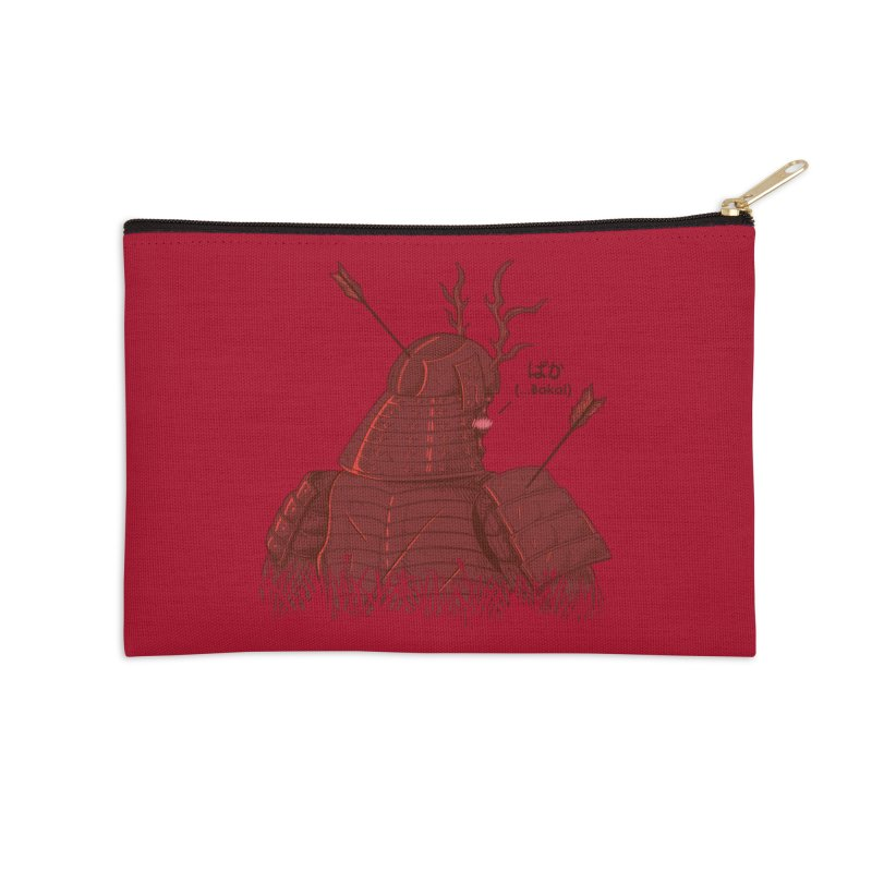 Tsundere Samurai Accessories Zip Pouch by Wolf Bite Shop