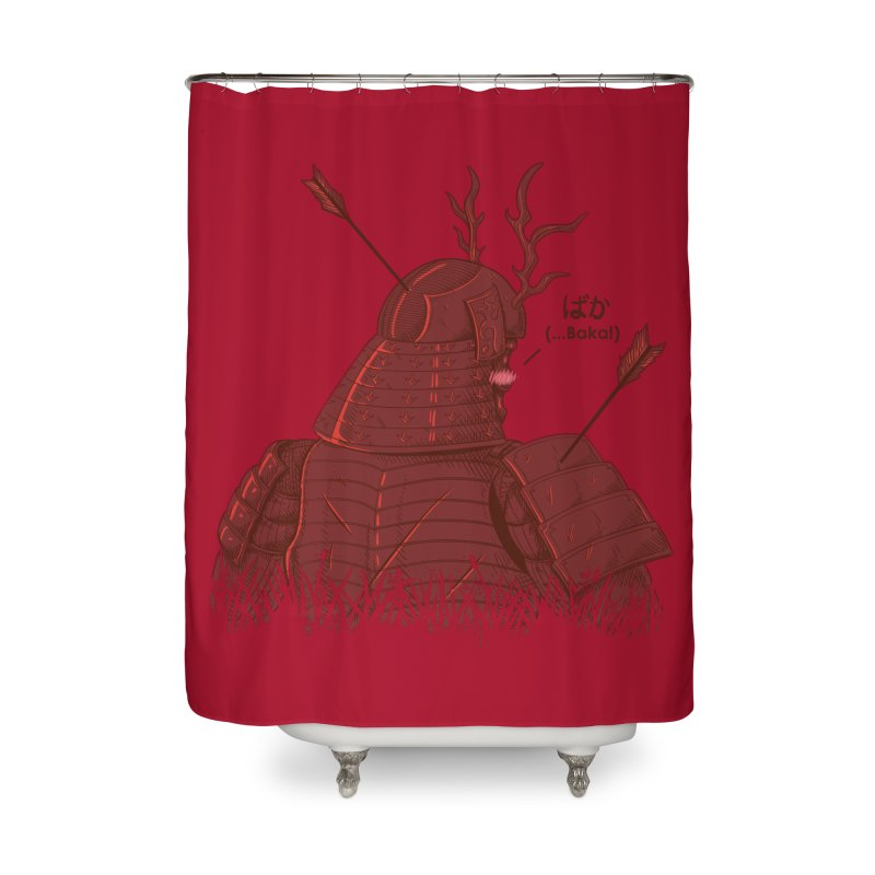 Tsundere Samurai Home Shower Curtain by Wolf Bite Shop