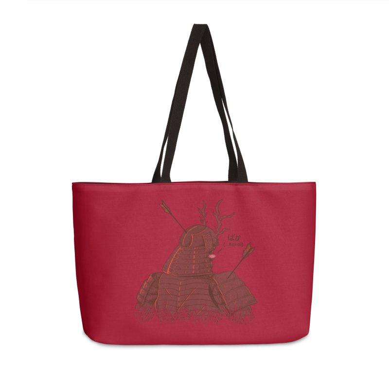 Tsundere Samurai Accessories Weekender Bag Bag by Wolf Bite Shop