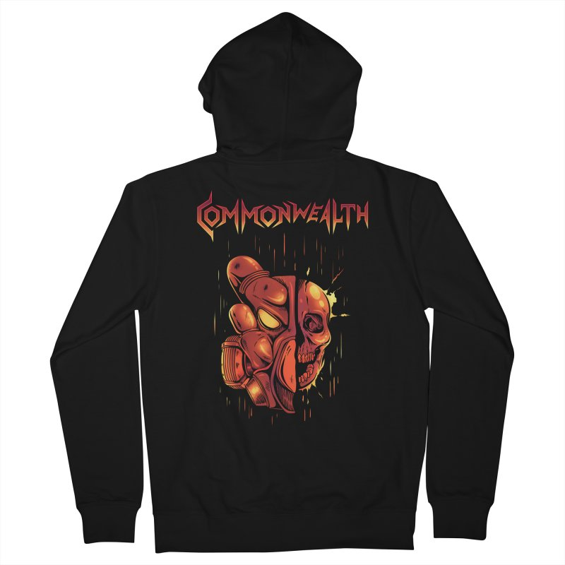 Metal band - Commonwealth Women's French Terry Zip-Up Hoody by Wolf Bite Shop
