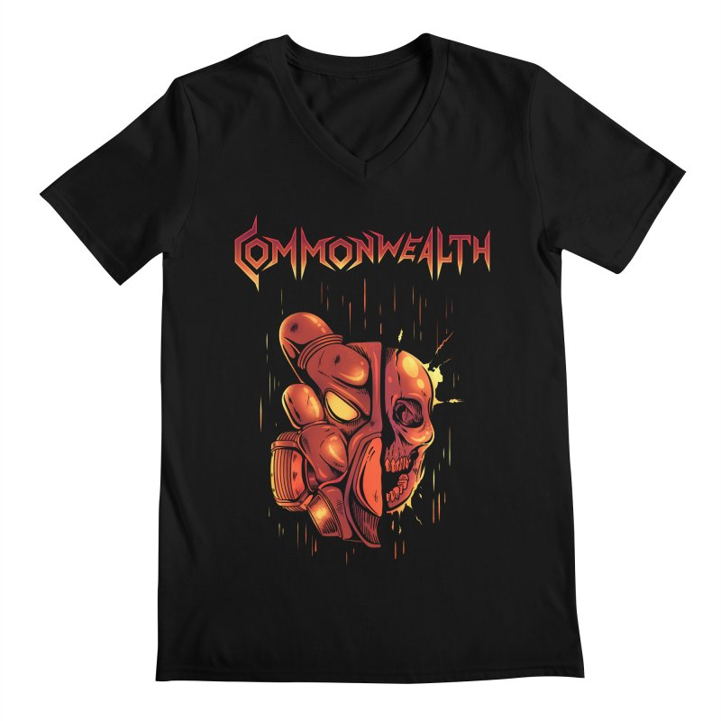 Metal band - Commonwealth Men's V-Neck by Wolf Bite Shop