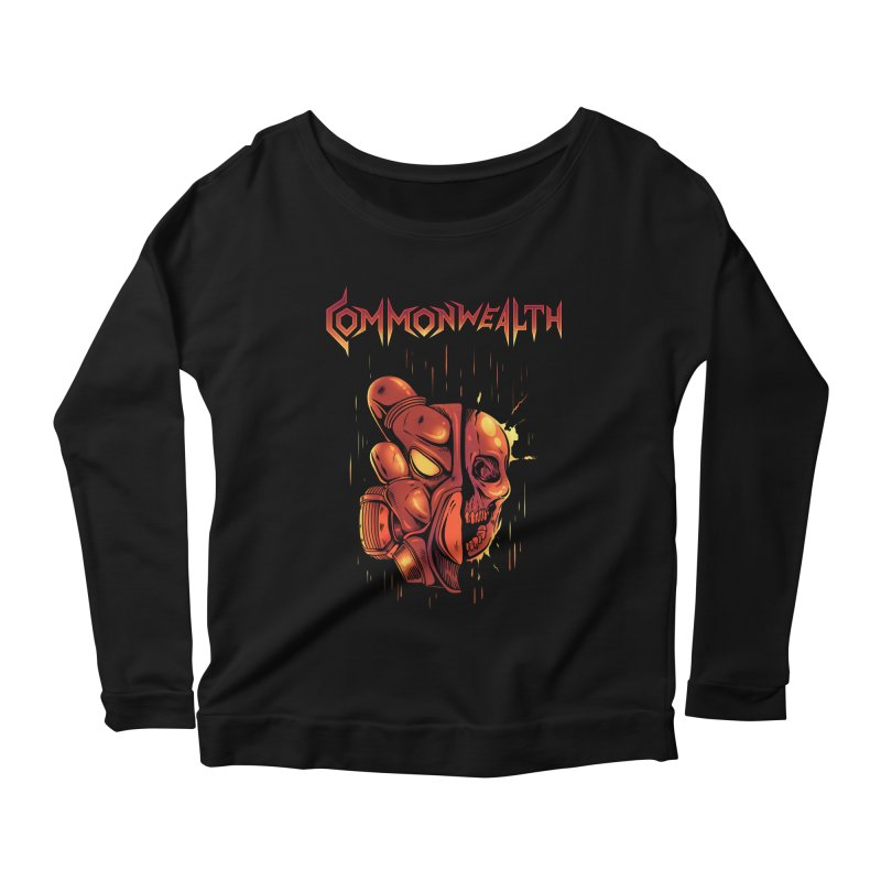 Metal band - Commonwealth Women's Longsleeve Scoopneck  by Wolf Bite Shop