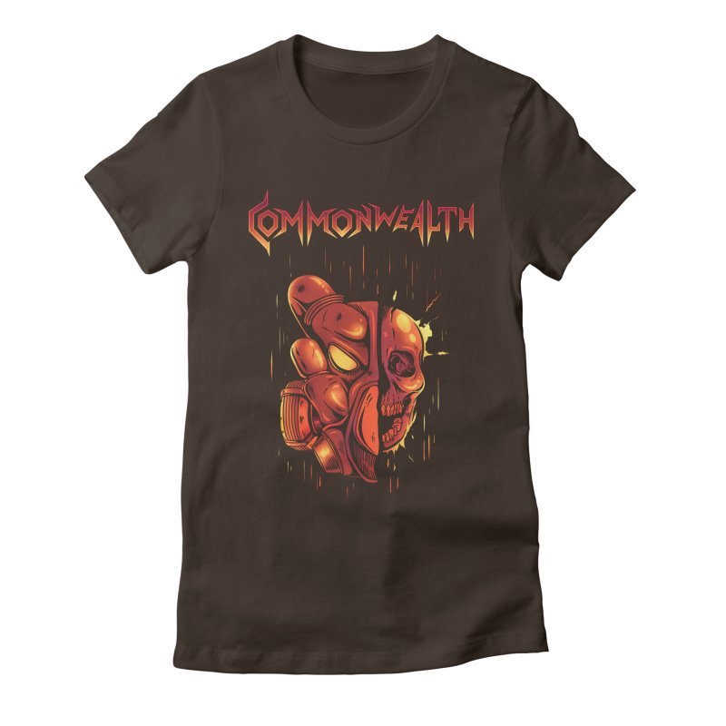 Metal band - Commonwealth Women's Fitted T-Shirt by Wolf Bite Shop