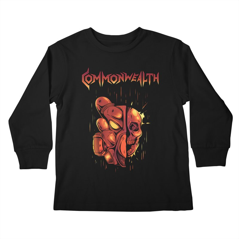 Metal band - Commonwealth Kids Longsleeve T-Shirt by Wolf Bite Shop