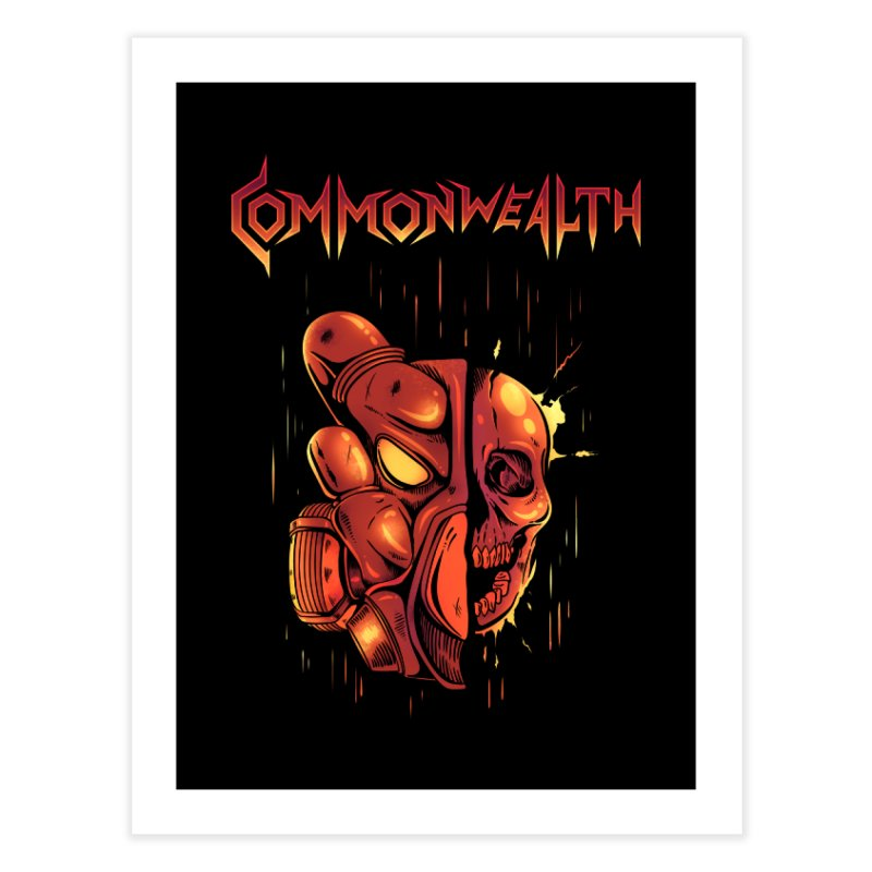 Metal band - Commonwealth Home Fine Art Print by Wolf Bite Shop