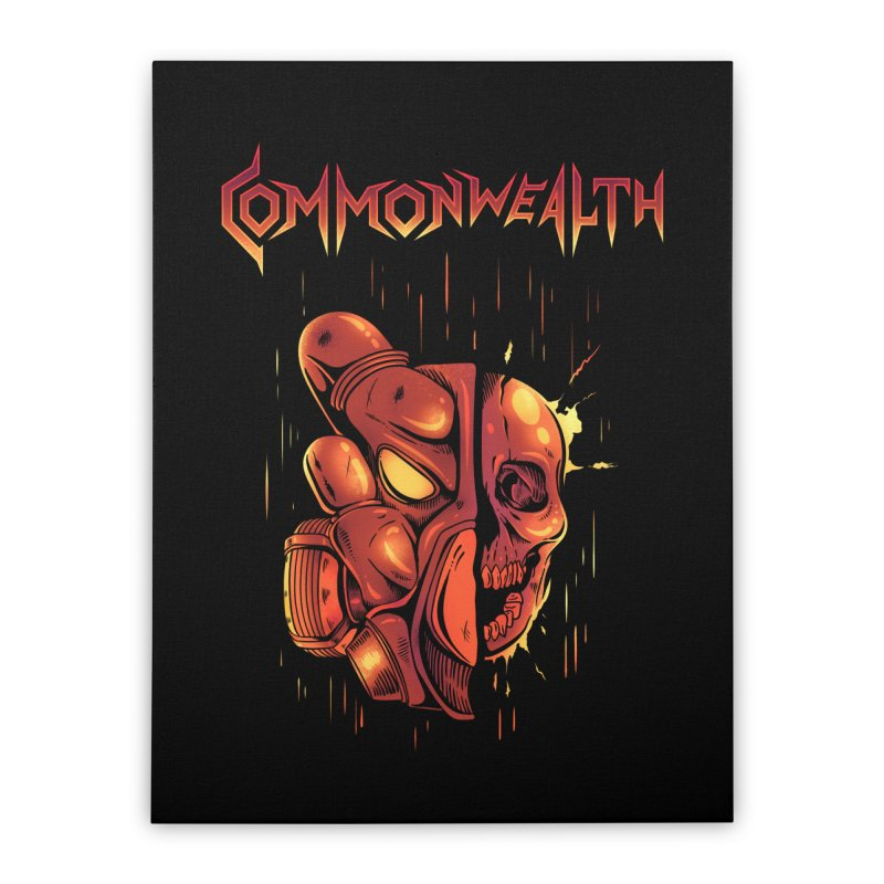 Metal band - Commonwealth Home Stretched Canvas by Wolf Bite Shop